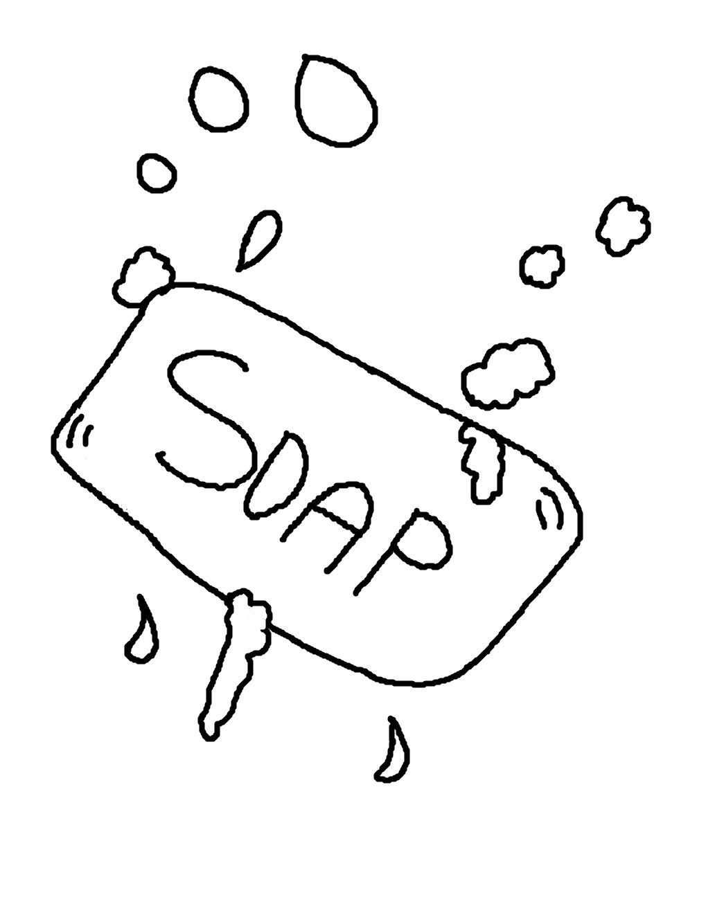 coloring pages of hand washing gallery