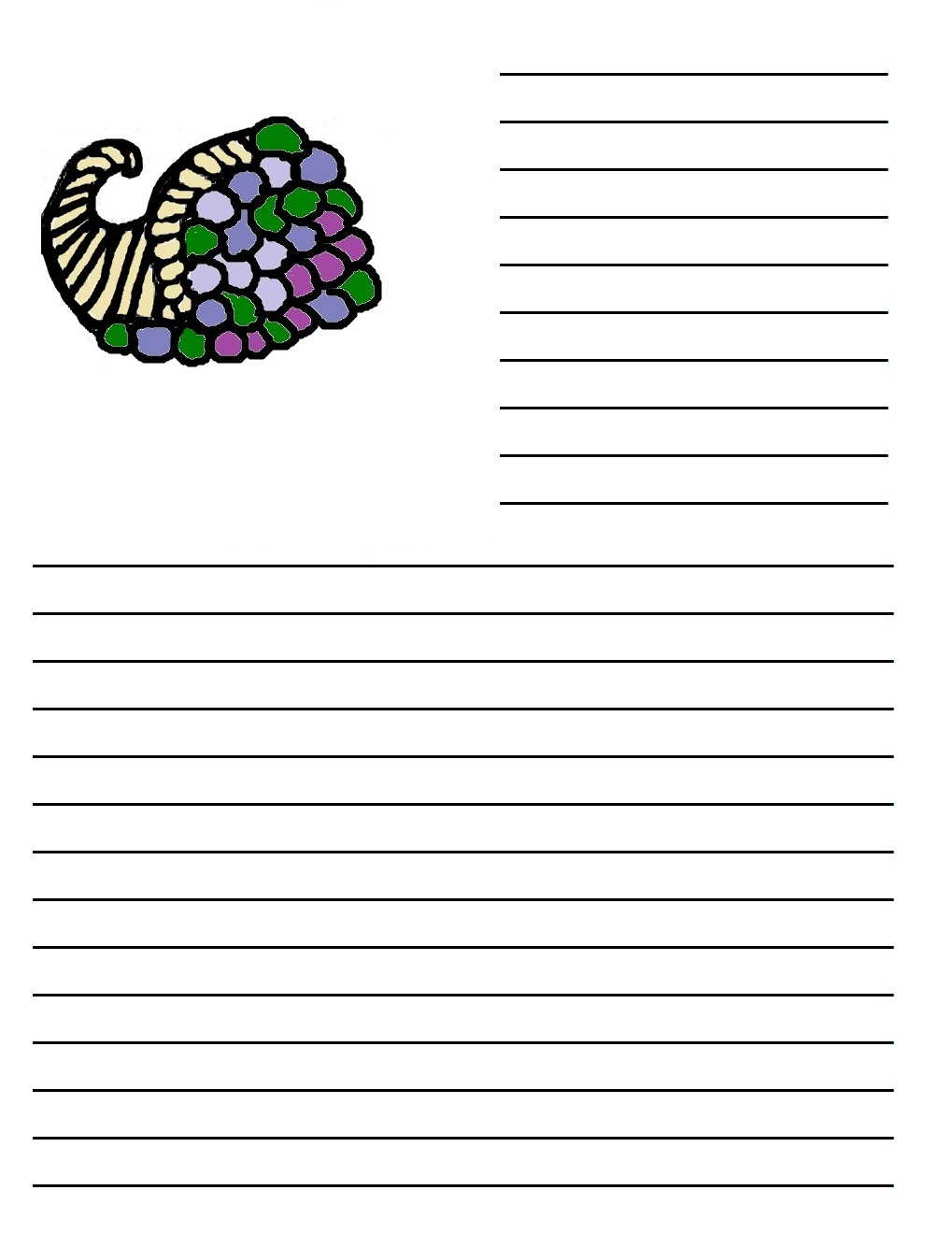 Turkey writing paper