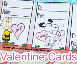 Free Printable Snoopy Valentine's Day Cards For Kids In Sunday School Class or Children's Church- Bible Scripture Valentine's Day Cards For Church