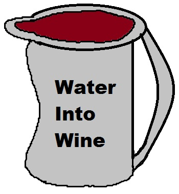 water into wine clipart, water into wine scriptures, water into wine,