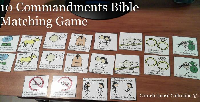 10 Commandments Matching Game