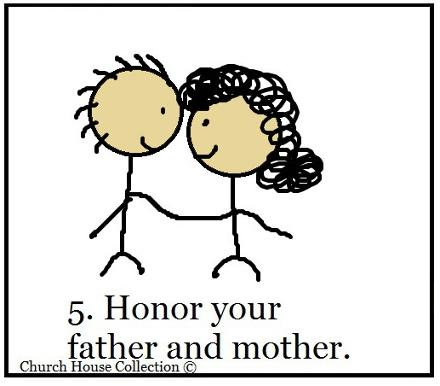 Honor Thy Father and Mother Sunday School Lesson for Ten Commandments