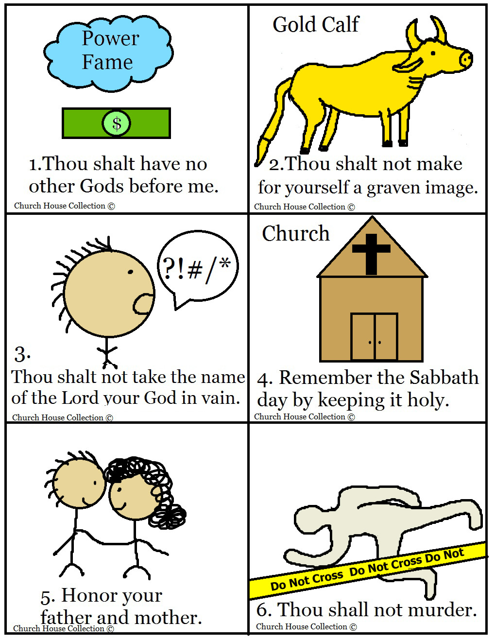10 commandments bible matching game