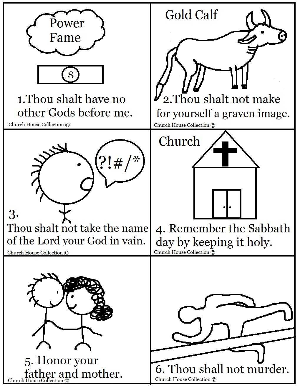 10 commandments bible matching game for 1st commandment coloring page