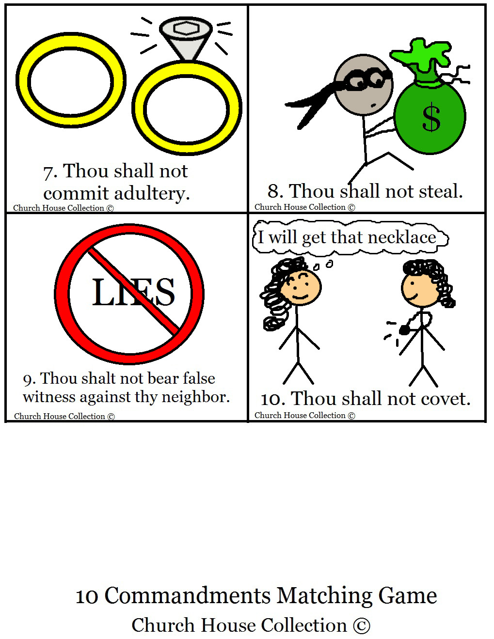 Coloring sheet ten commandments - Colored Page 1 Page 2