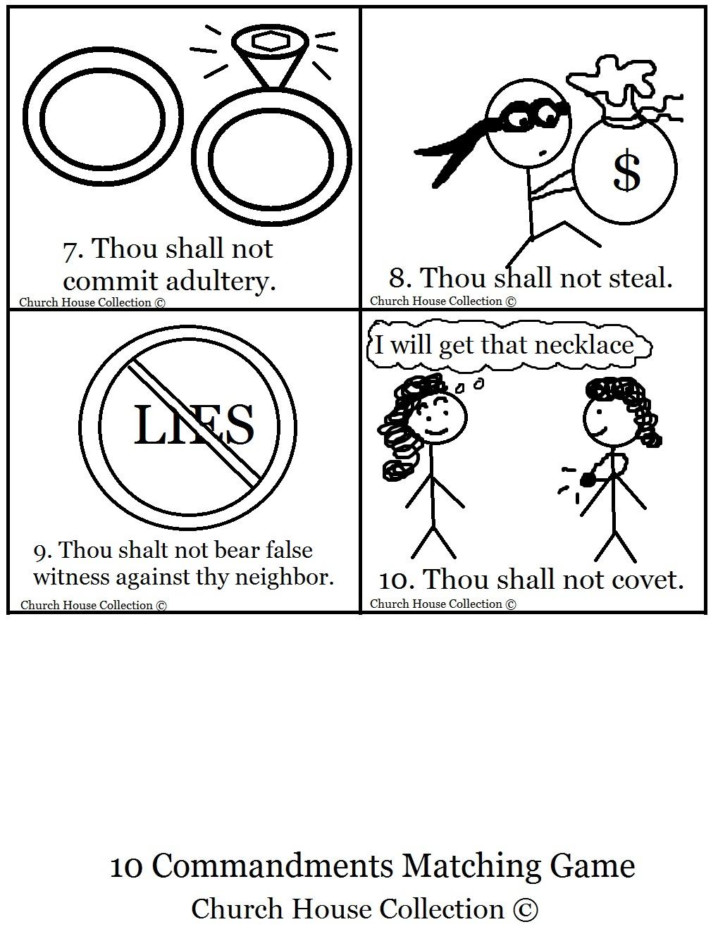 10 Commandments Bible Matching