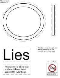 Thou Shalt Not Lie Cut Out Sheet For Ten Commandments
