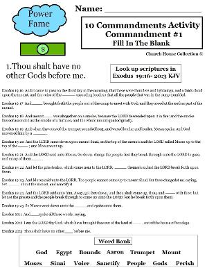 Ten commandments fill in the blank thou shalt have no other gods before me