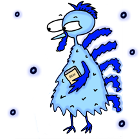 Turkey Sunday School Lessons- Turkey Thanksgiving Sunday School Lessons-Blue Cold Ice Frozen Turkey Holding A Bible Walking In The Snow Winter-Sunday School Lessons-Coloring Pages, Snack Ideas by Church House Collection