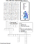 Turkey Word search and Crossword Puzzle Kids Blue Winter Snow Snowing Bible Thanksgiving Winter Sunday School Childrens Church Free Printable Thanksgiving