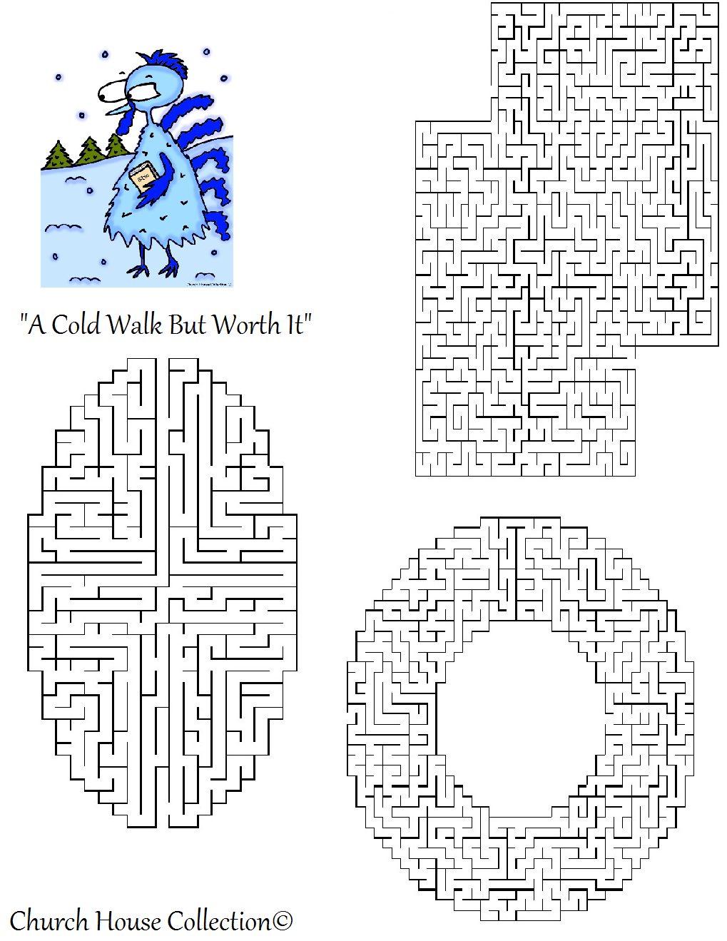 Free Printable Turkey Thanksgiving Mazes For School Kids by Church House Collection