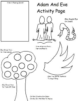 Adam and Eve Activity Page
