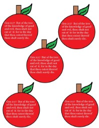 Adam and Eve Apple Printable Stickers