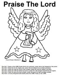 Joyful Noise Angel Coloring Page