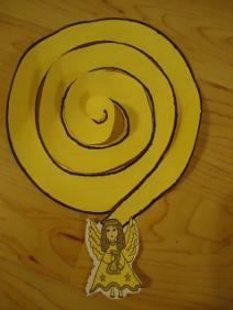Angel Praise the Lord swirl hanger craft activity cut out