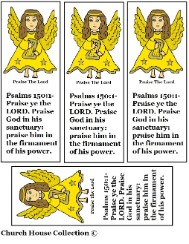 Angel Praise the Lord Bookmarks