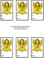Angel Praise the Lord gift tags
