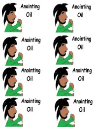 Anointing Oil Printable Stickers