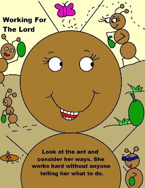 Ant Bible Story Telling Picture Image Ant Labor Day Working For The Lord Clipart
