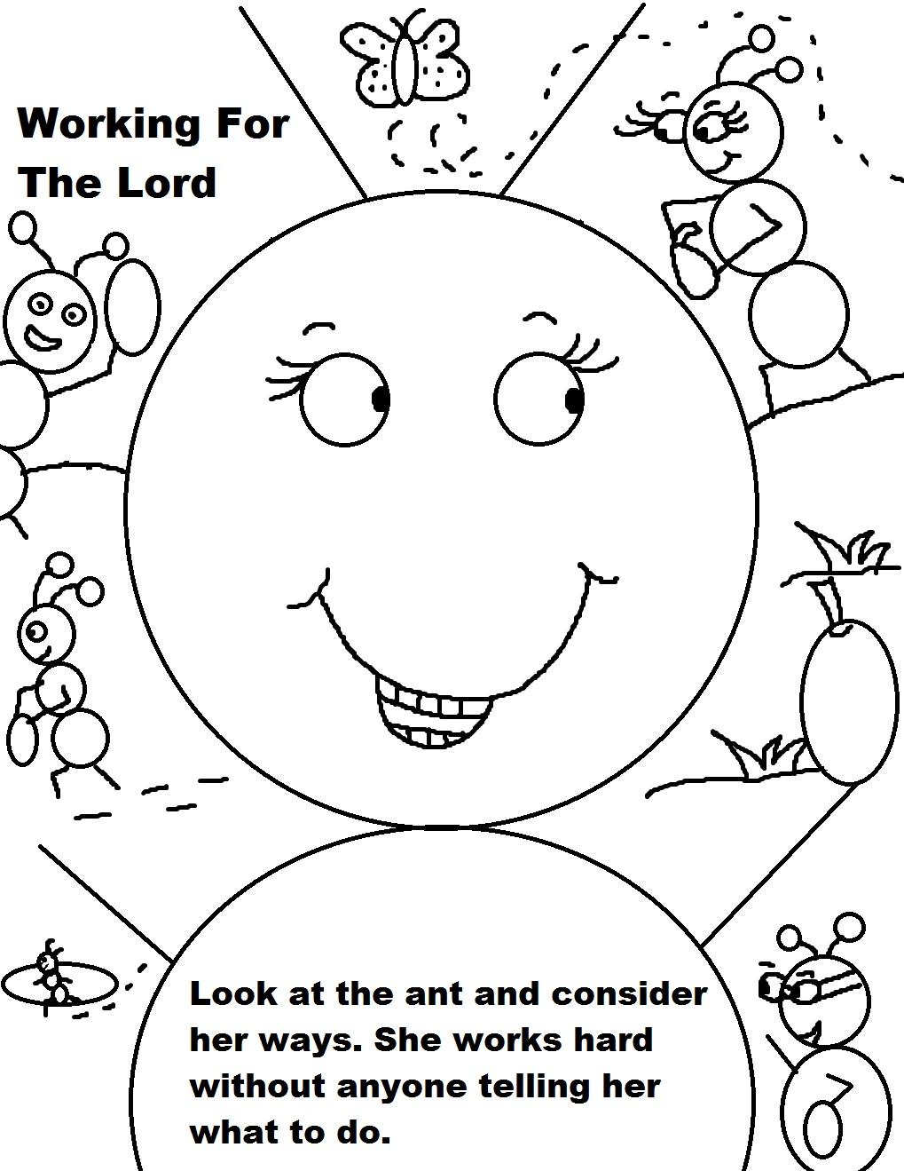 Labor day sunday school lesson for Coloring pages for sunday school preschool