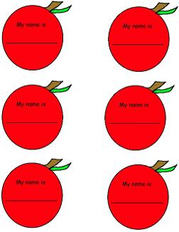 Adam and Eve Apple Name Tags