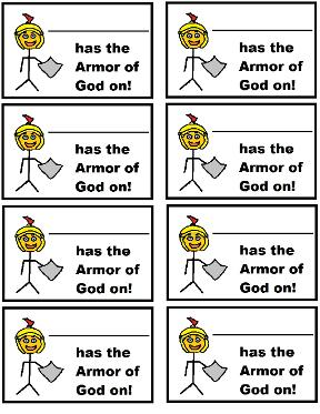 Armor of God Name Tags
