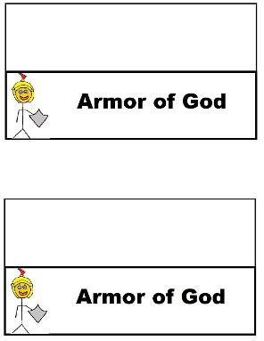 Armor of God Sandwich Ziplock Bag Template