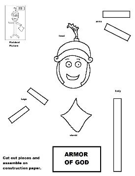 Armor of God Activity Sheet For Kids