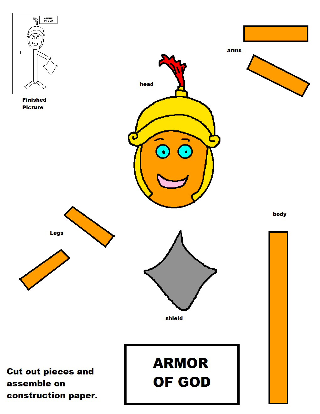 Ziplock school bags - Armor Of God Lesson For Kids