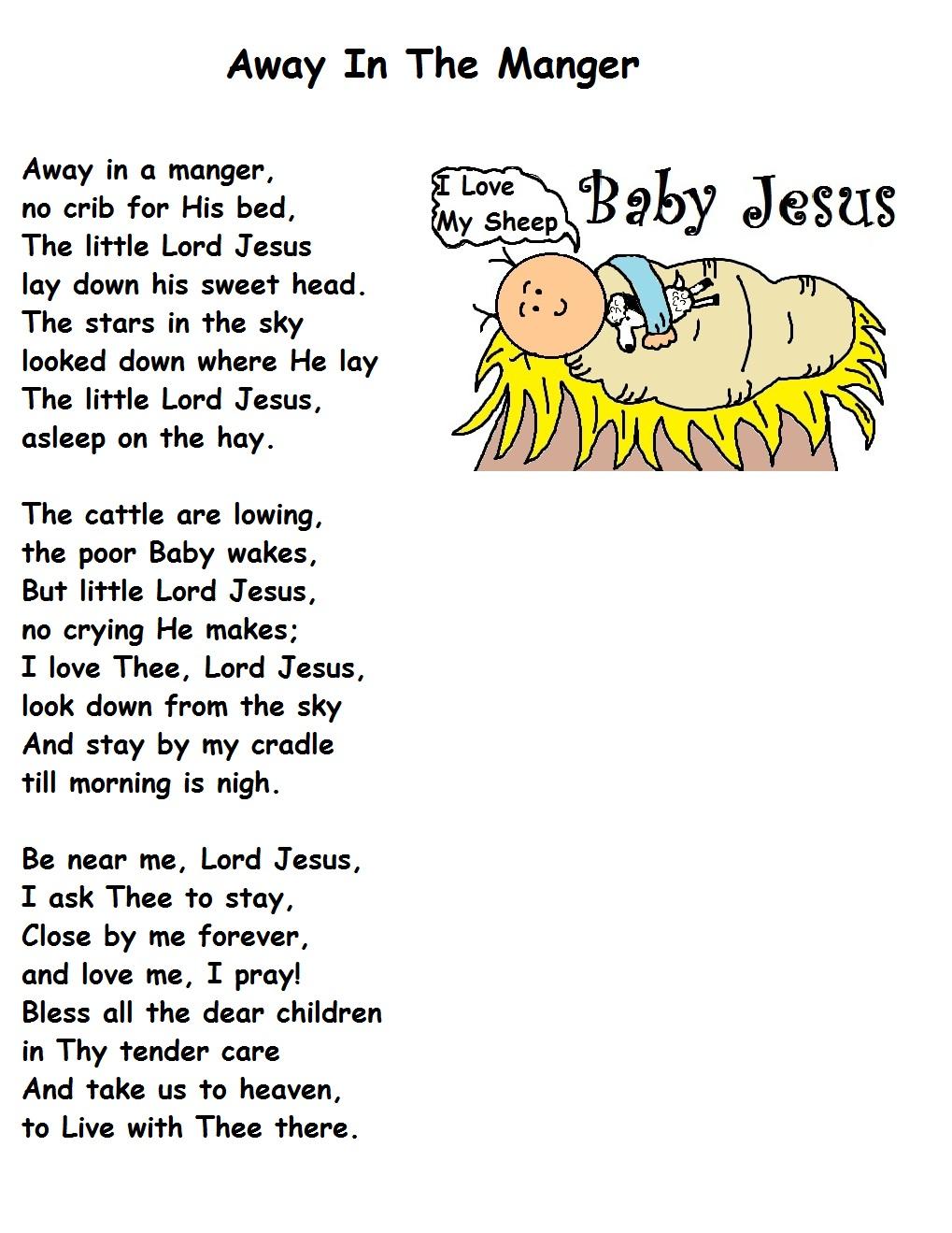 Christmas Song - Away In A Manger Lyrics   MetroLyrics