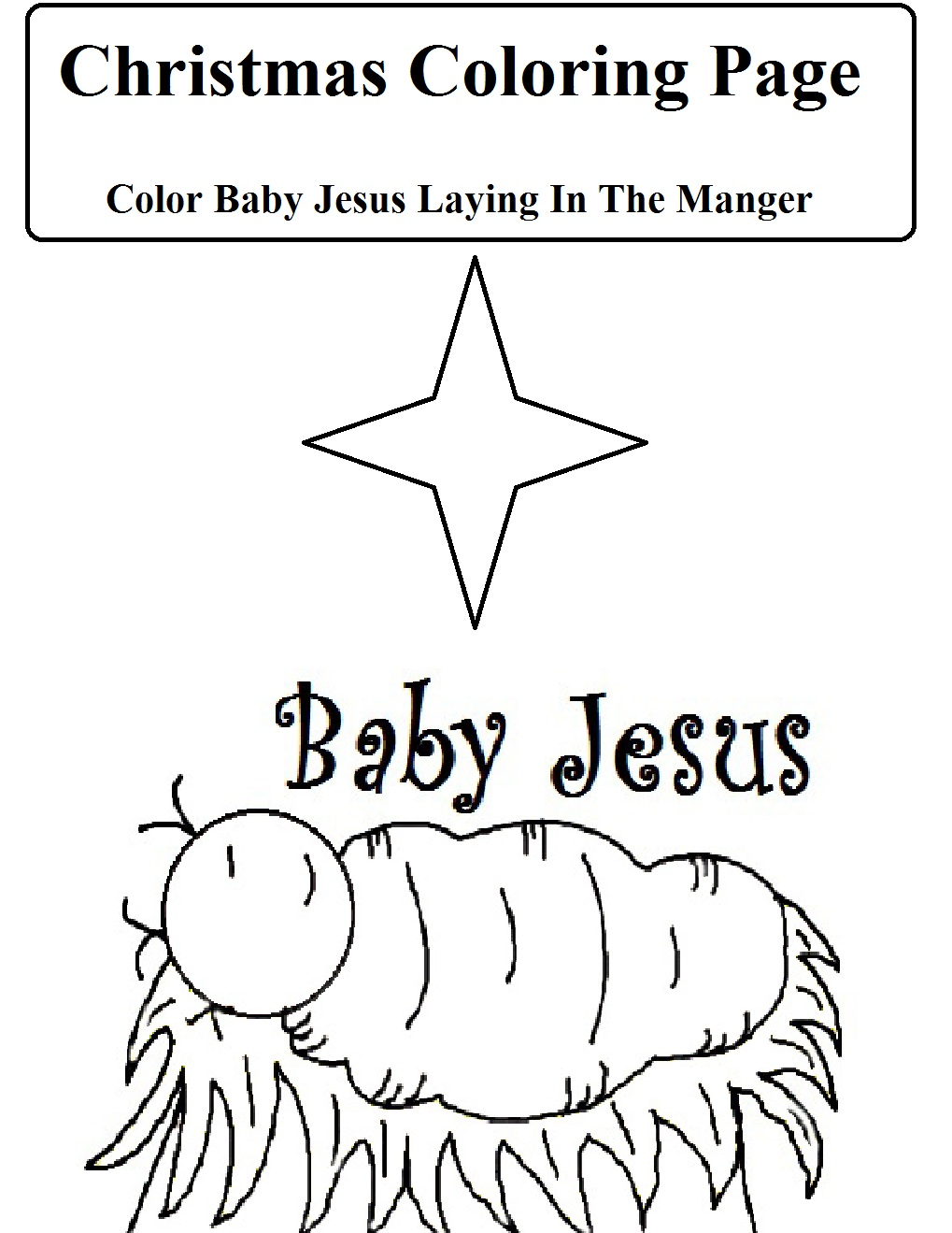 coloring page the birth of jesus coloring pages