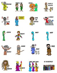 Bible People Printable Stickers