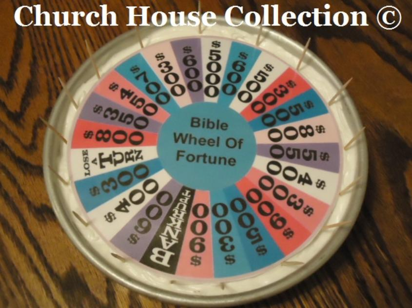 Bible Wheel of Fortune Cake by ChurchHouseCollection.com Goes with our Bible Wheel Of Fortune Game