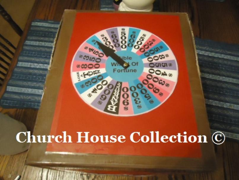 Bible Wheel of Fortune Game DIY idea to make your own by ChurchHouseCollection.com