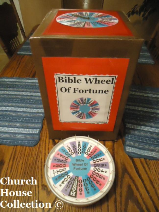 Bible Wheel of Fortune Game and Bible Wheel of Fortune Cake by ChurchHouseCollection.com