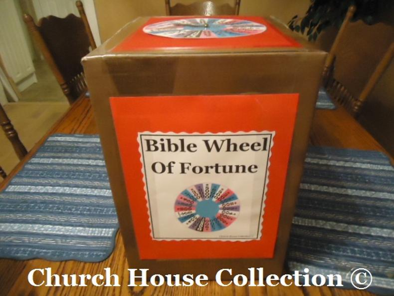 Bible Wheel of Fortune Game by ChurchHouseCollection.com Bible Wheel Of Fortune Game DIY Idea to make your own from cardboard and a printable template