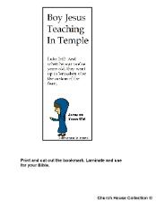 Boy Jesus 12 years old teaching in temple bookmark