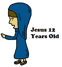 Jesus 12 Years Old Teaching in the temple Clipart