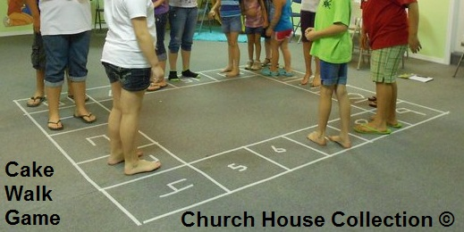 Cake Walk Game For Children's Church