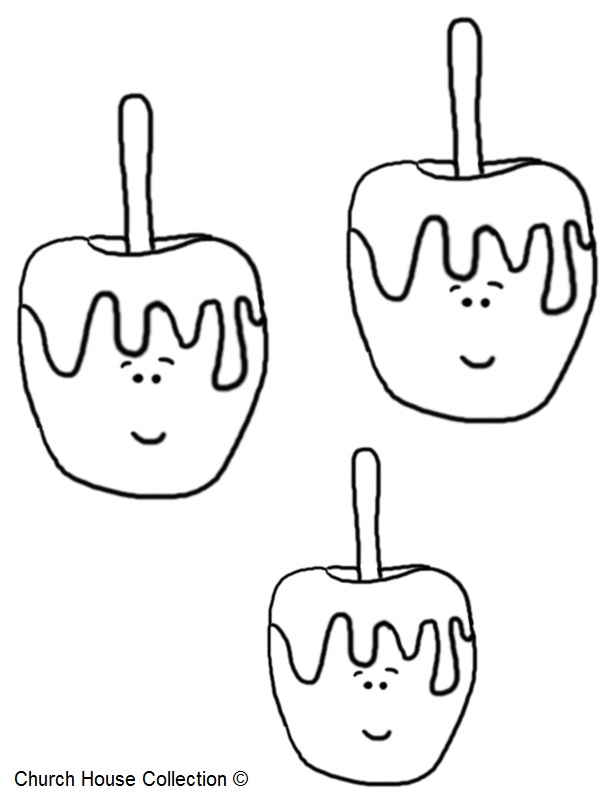 Candy Apple Coloring Pagesrhchurchhousecollection: Caramel Apple Coloring Pages At Baymontmadison.com