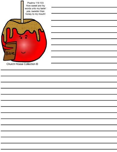 Candy Apple Writing Paper