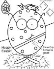 Cave City School Coloring Pages- Easter Egg Coloring Pages