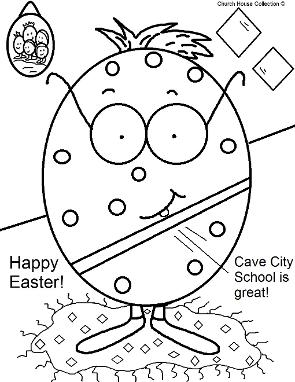Cave City School Easter Egg Coloring page