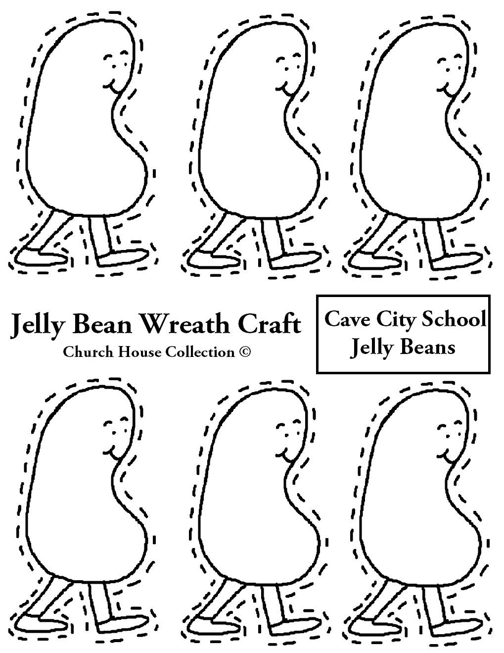 Cave City School Jelly Bean Wreath Jpg 1019x1319 Art Template