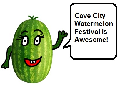 Cave City Watermelon Festvial Clipart Picture