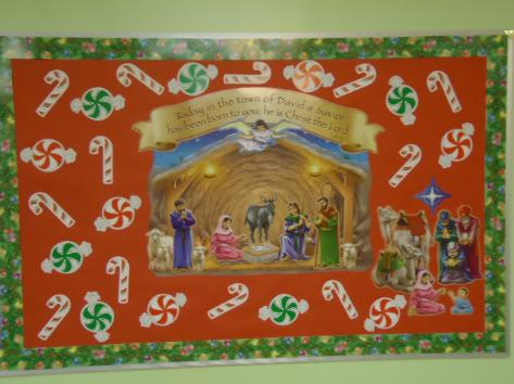 Nativity Scene Bulletin Board Idea For Church