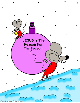 Jesus Is The Reason For The Season Coloring Page Mouse Carrying Purple Christmas Ball Ornament Up Snow Hill Mouse Drinking Hot Chocolate on top wearing red pajamas pjs