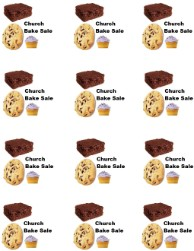 Church Bake Sale Printable Stickers