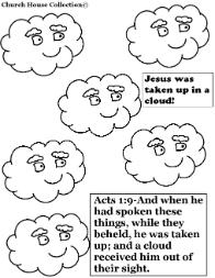 Cloud coloring pages Acts 1:9 Cloud sunday school lesson