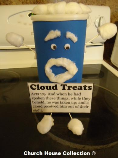 Cloud Treats for Sunday School Oatmeal Canister Craft